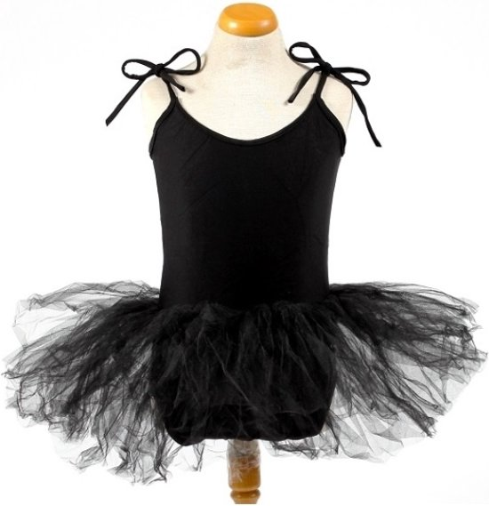 Balletpakje + Tutu - Zwart - Ballet - Verkleed jurk - maat 122/128 (12)