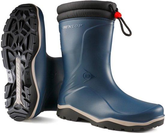 Dunlop K354061 Blizzard Blauw Gevoerde Kinderlaarzen PVC