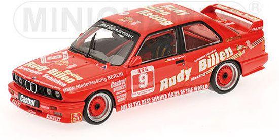 """Minichamps BMW M3 #9 DTM Avus 1988 """"Rudy Billen"""" H.Grohs Schaal 1:43"""