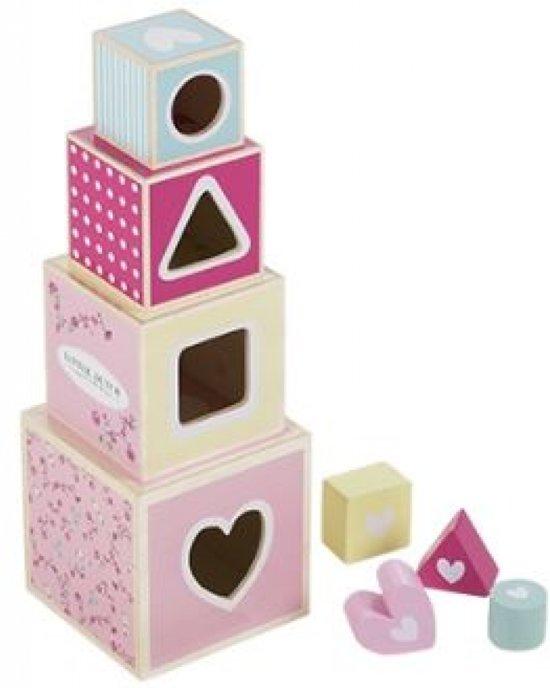 Little Dutch Houten Stapelblokken - Pink Blossom