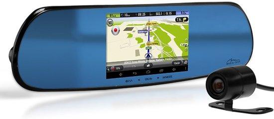 Media-Tech - Full HD - Touch Screen Auto Camera - Achteruitkijkspiegel Met Navigatie in Leihoek