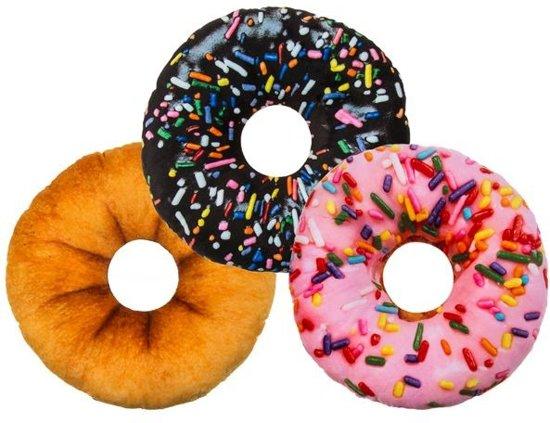 Donut Kussen Pluche 30 cm (per stuk)