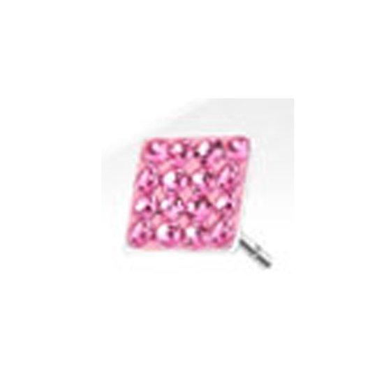 Lobe vierkant roze