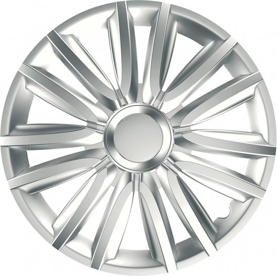 Car Plus Wieldoppen Race 13 Inch Abs Zilver Set Van 4