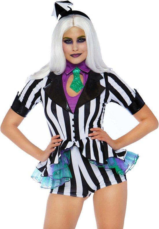 Halloween Kostuum Vrouw.Halloween Kostuum Harlekijn Scheidsrechter Beetle Juice Vrouw Medium Halloween Verkleedkleding