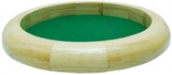 Yathzeebord | Dobbelpiste Dobbelbak Blank Hout Groen Vilt 30cm