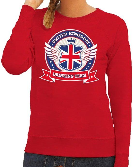 Dames Kleding Xs.Bol Com Rood United Kingdom Drinking Team Sweater Sweater Rood