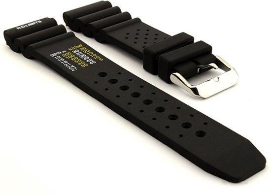 Horlogeband Rubber Promaster Zwart - 22mm