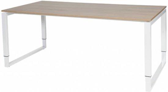 Schaffenburg Verstelbaar Bureau - Plus 180x90 Havana Kersen - wit frame