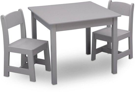 Kindertafel En Stoeltjes.Delta Children Tt89601gn 026 Tafel Met 2 Stoelen Grijs
