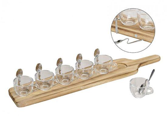 Serving set 13-delig glazen bekers en lepels