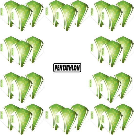 Pentathlon Wave - sterke flights - Groen  - Dragon darts - 10 Sets (30 stuks) - darts flights