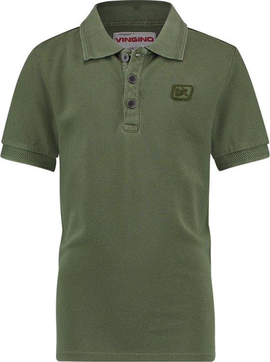 ddc8b8690b3a2c bol.com | Vingino Jongens Poloshirt - Dark Army - Maat 128