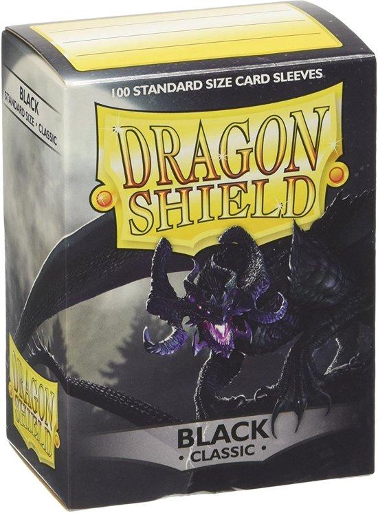 Afbeelding van het spel Dragon Shield Black 100 Standard sleeves
