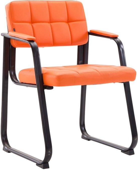 Clp Canada B - Eetkamersstoel - Kunstleer - oranje zwart matmetaal