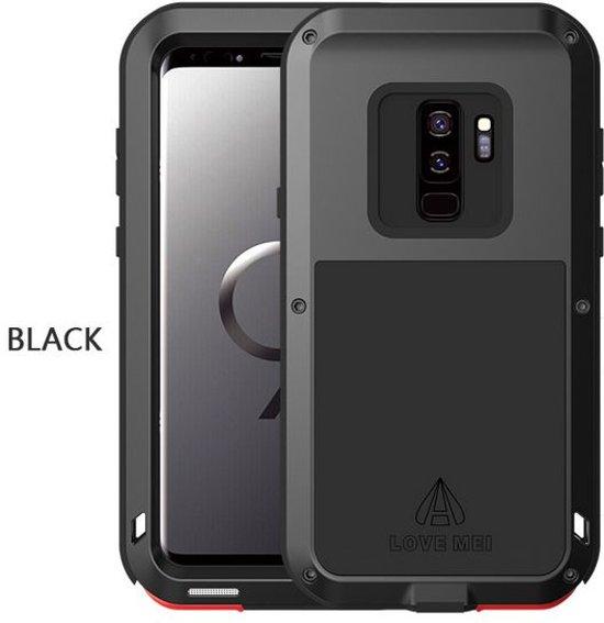 Metalen hoes voor Samsung Galaxy S9, Love Mei, metalen extreme protection case, zwart