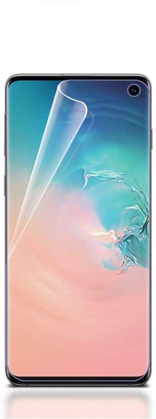 Ntech Samsung Galaxy S10 Folie Screenprotector Full Screen   Fingerprint Unlocking film Transparant