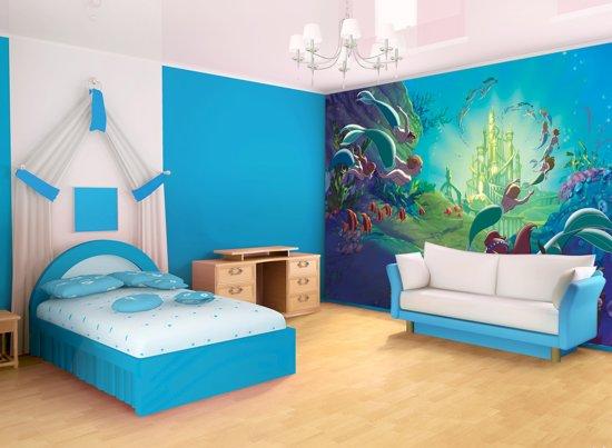 Fotobehang Disney, Zeemeermin | Groen | 152,5x104cm
