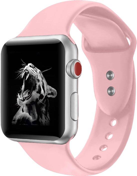 Shop4 - Apple Watch 3/2/1 38mm Bandje - Small Siliconen Roze
