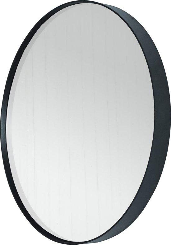 Super bol.com | Spinder Design Donna 3 - Spiegel - Rond 60x5 - Zwart JK79