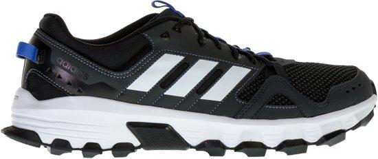 adidas Rockadia Trail Hardloopschoen Heren Hardloopschoenen - Maat 42 2/3 - Mannen - grijs/wit/blauw