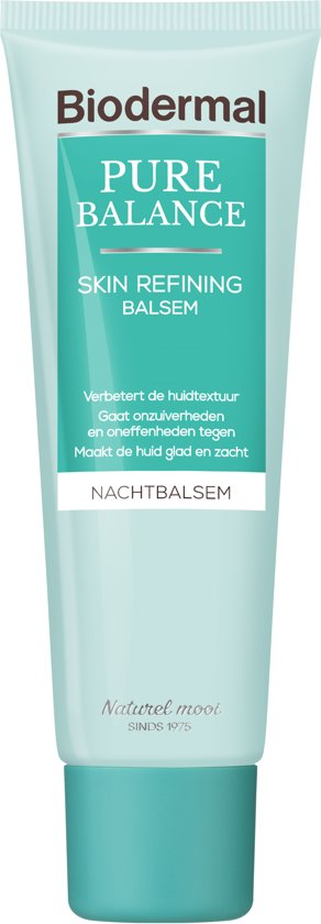 Biodermal Pure Balance Skin Refining Nacht Balsem – Nachtcreme - 50ml