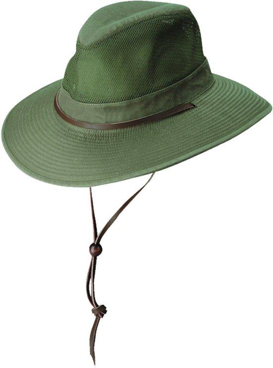 Dorfman Pacific UV beschermende Hoed Heren - Olijfgroen - Maat L (58cm)