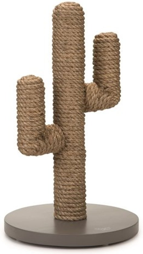 Designed by Lotte Houten Krabpaal Cactus -  Taupe. 35 x 35 x 60 cm.