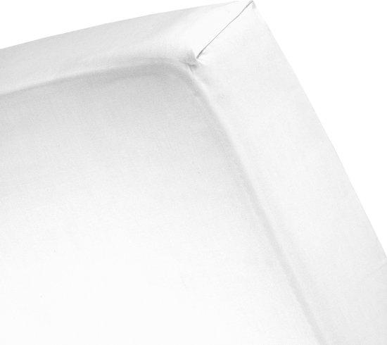 Cinderella Basic - Percaline katoen - Hoeslaken - Eenpersoons - 90x200 cm - White