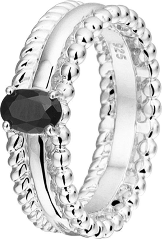The Fashion Jewelry Collection Ring Zirkonia - Zilver
