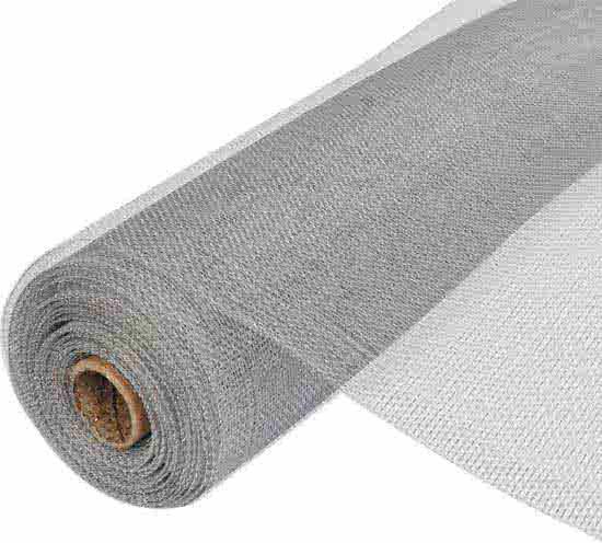 Horrengaas  nylon 80 CM  x 250 CM  grijs