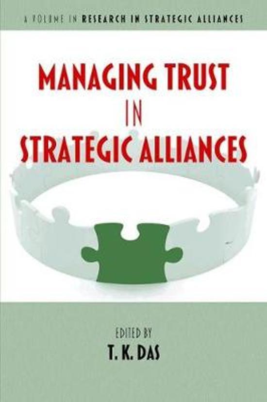 Managing Trust in Strategic Alliances