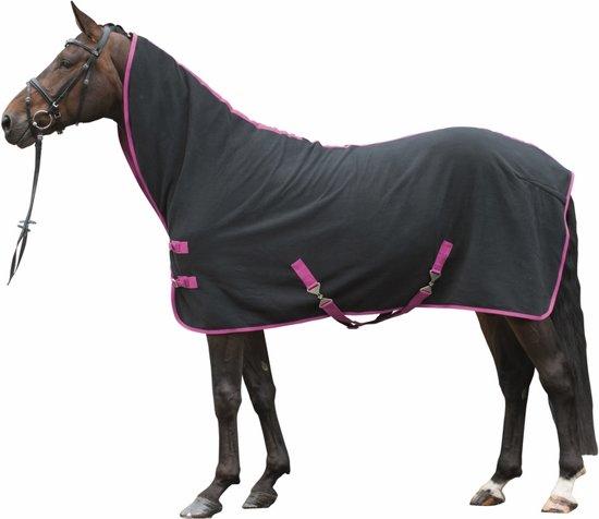 Multifunctionele zweetdeken zwart/roze 185