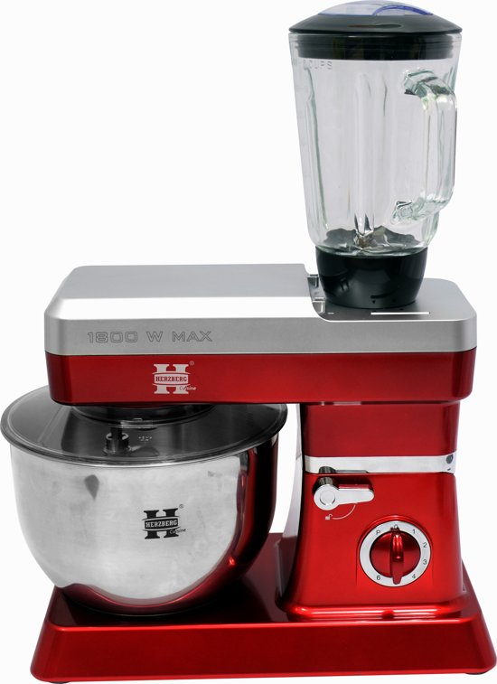 Herzberg Keukenmachine 1200W (max 1800W), 6,5 L in Nieuwe Strumpt