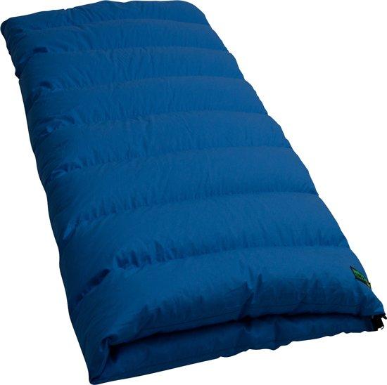 LOWLAND OUTDOOR® Donzen slaapzak - Junior - 160 x 70 cm - Blauw - Dons - Katoen