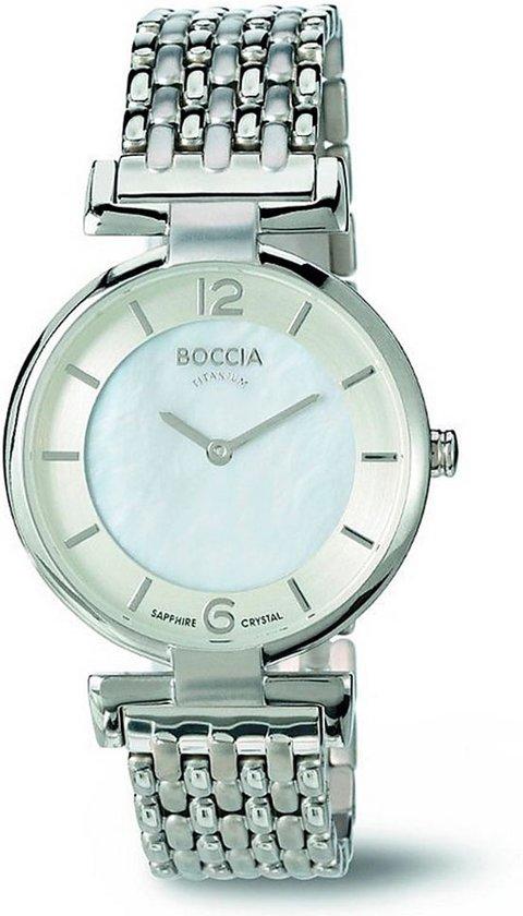 Boccia Titanium 3238-03-Horloge-Zilverkleurig-30mm