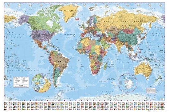 Wereldkaart-poster-miniformaat-40x50cm.