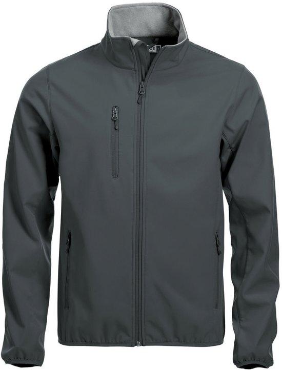 Clique Basic Softshell jacket heren antraciet xs