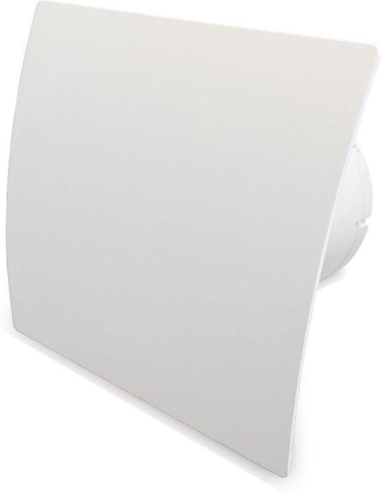 Ventilatieshop badkamer/toilet ventilator - timer - vochtsensor - Ø100mm - kunststof - wit