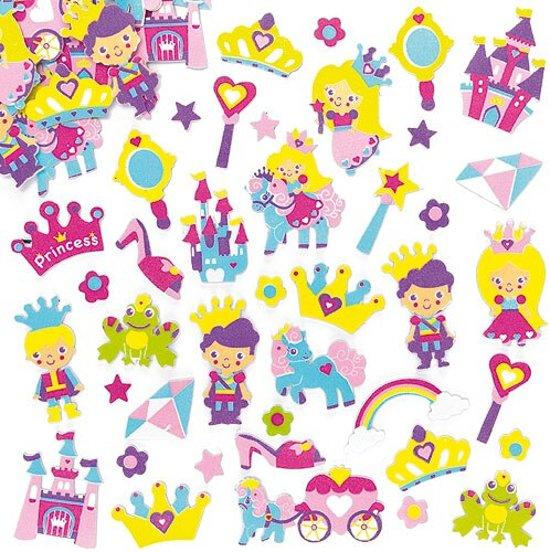 Foam stickers prinses  (120 stuks per verpakking)