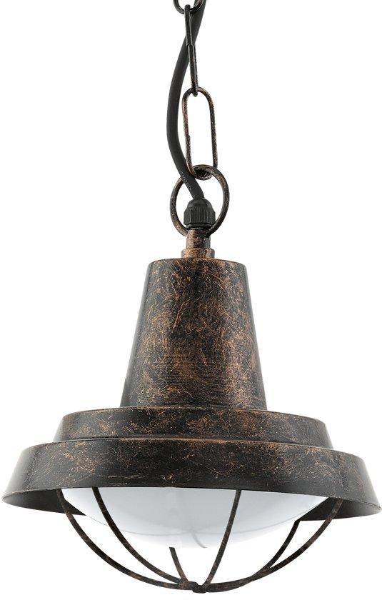 EGLO Vintage Colindres - Buitenverlichting - Hanglamp - 1 Lichts - Koperkleurig
