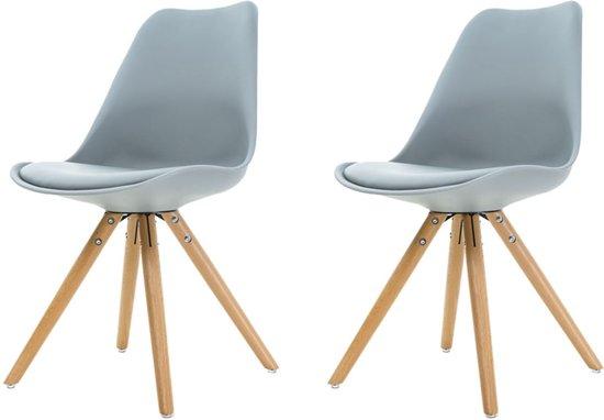 Licht Grijze Stoel : Bol.com legno stoel lichtgrijze zitting houten onderstel set