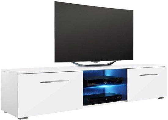 Led Verlichting Kast : Bol tv meubel tv kast tenus zonder led verlichting body wit