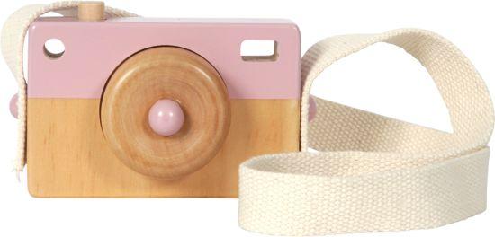 Afbeelding van LD Houten Camera roze speelgoed