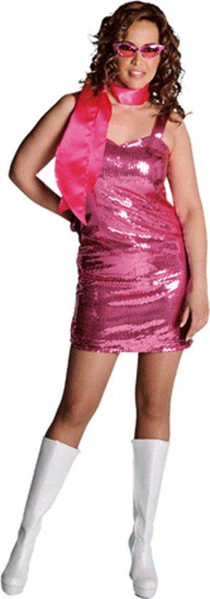 Glitter jurkje roze 40 (l)