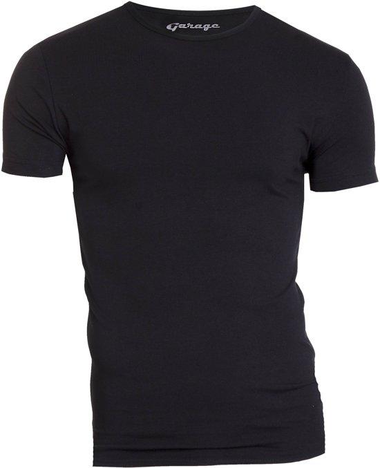 Garage Bodyfit R-Neck T-Shirt Zwart Heren Size : L