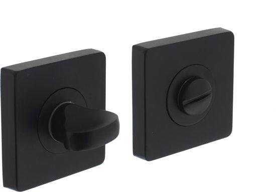 Toilet Accessoires Zwart : Bol intersteel rozet toilet badkamersluiting vierkant mat