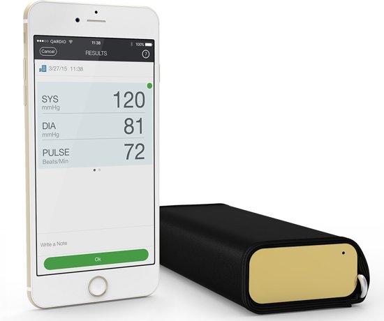 QardioArm draadloze bloeddrukmeter: compact en draagbaar manchet voor de bovenarm - compatibel met bluetooth voor Apple- en Android-toestellen - Goud