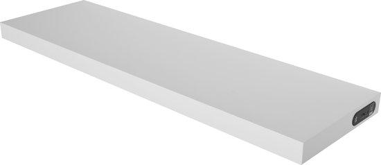 Duraline Draadloze Speaker Wandplank.Duraline Wandelement Draadloze Speakerplank Wit 80x23 5cm 38mm Mdf
