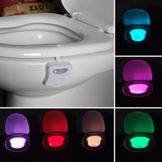 bol.com | Toilet WC Verlichting - LED WC Nachtlampje - Toiletpot ...